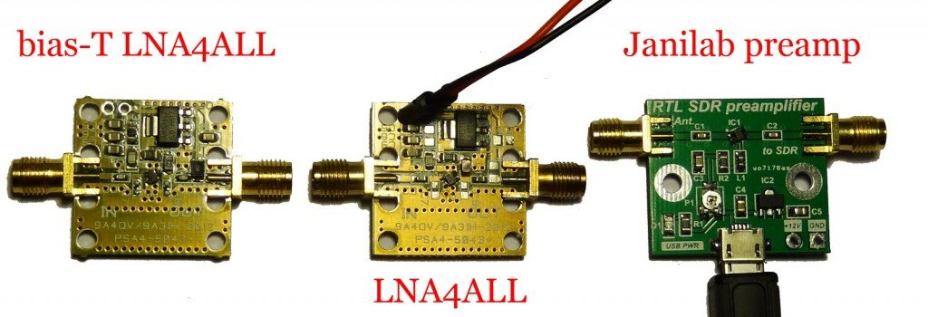 The LNA4ALL and LNA4HF vs the Janilab Preamp