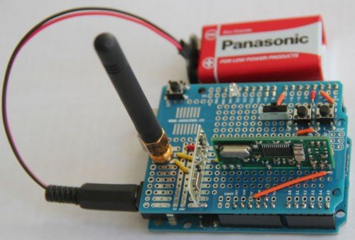 A $40 Arduino which can be used to record wireless rolling codes, then transmit new ones once cracked.