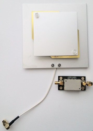 The Outernet patch antenna and LNA