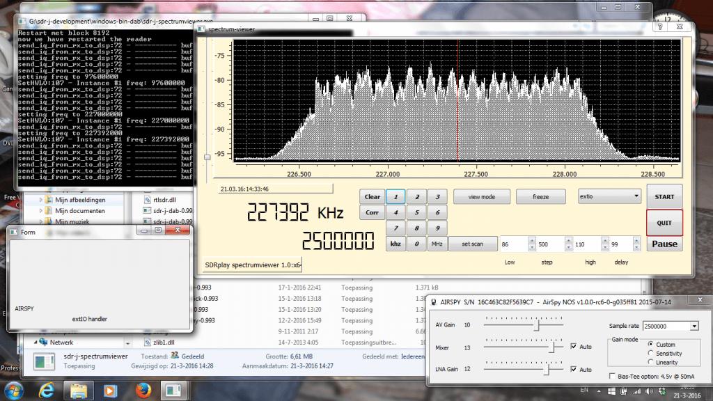 SDR-J Running on Windows.