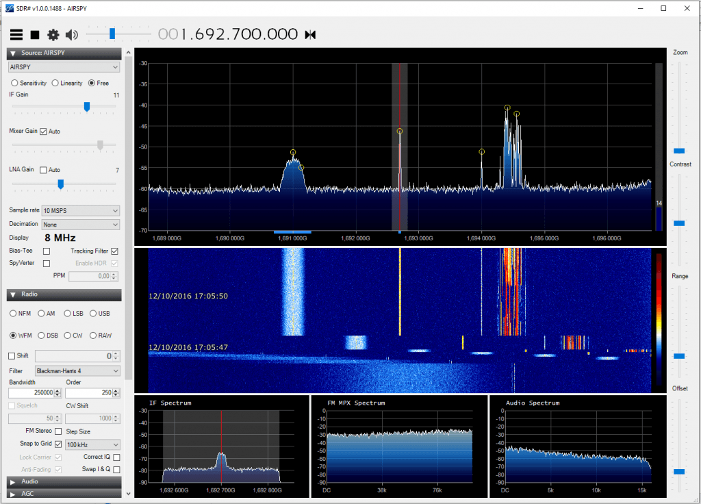 GOES received with the dish, LNA4ALL, filter and an Airspy.