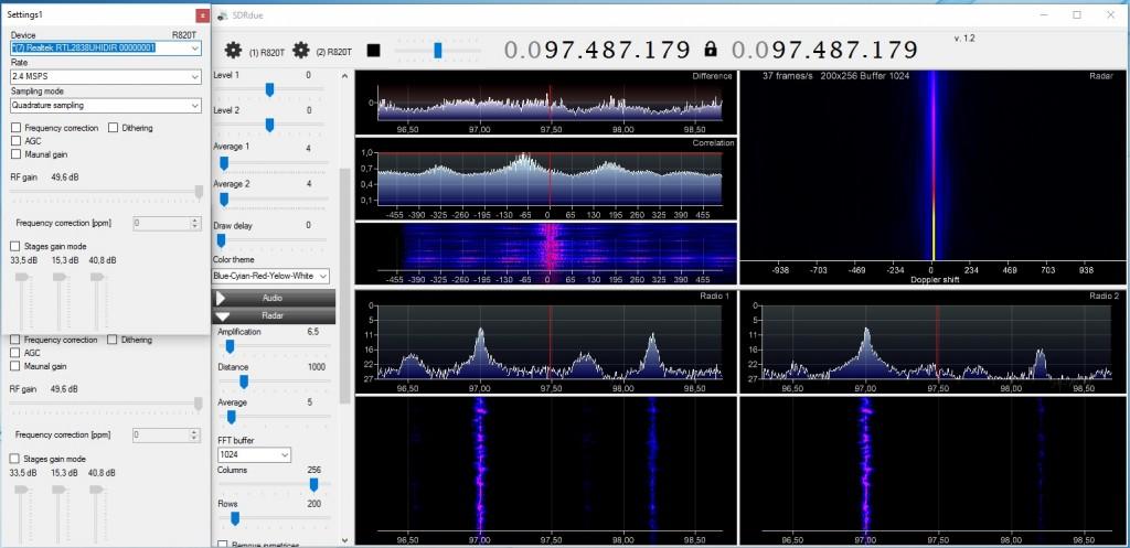 The SDRDue Passive Radar Software