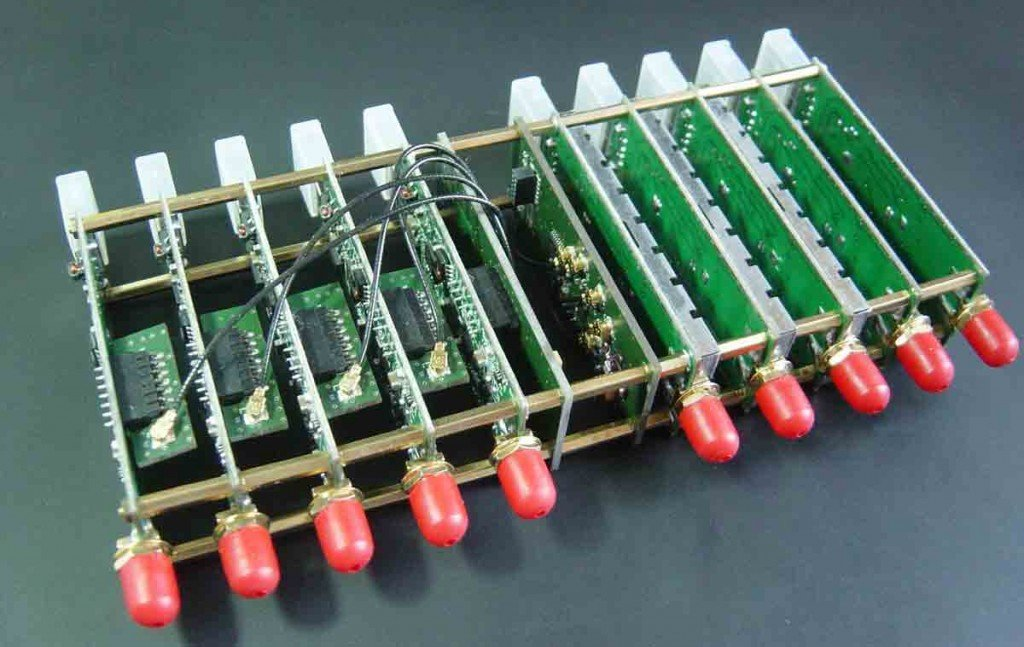 A ten channel RTL-SDR coherent receiver.