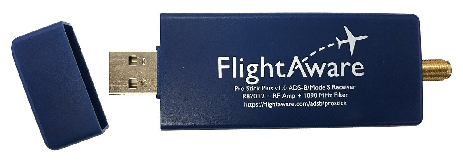The Pro Stick Plus RTL-SDR based ADS-B Receiver from FlightAware.
