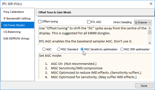 RTLSDR++ Drivers: New Gain Options