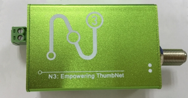 The Thumbnet N3 with its metal case add on.