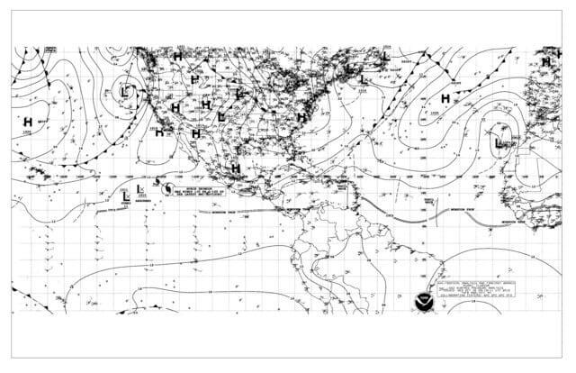 Weatherfax (WEFAX) Image