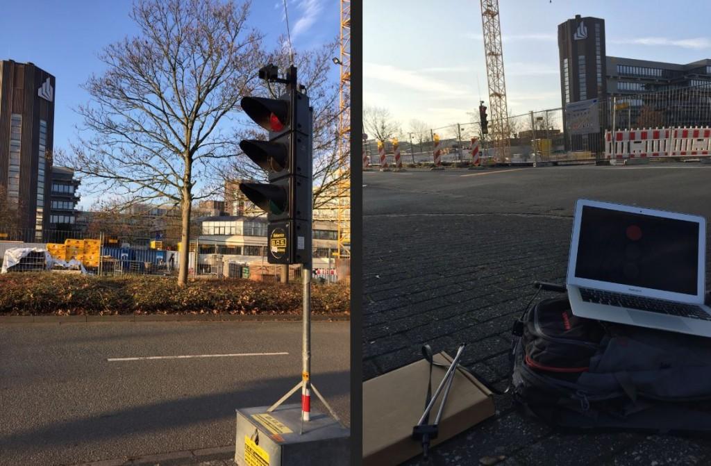 The reverse engineered wireless traffic lights.