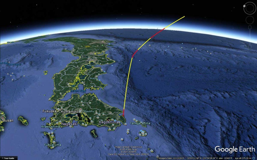 LimeSDR Simulated GPS Rocket Trajectory Received with RTL-SDR.