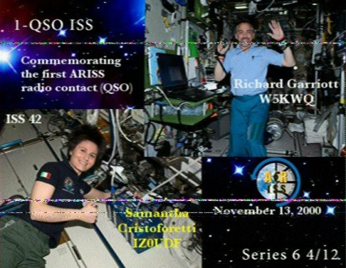 An SSTV image from the ISS sent last April