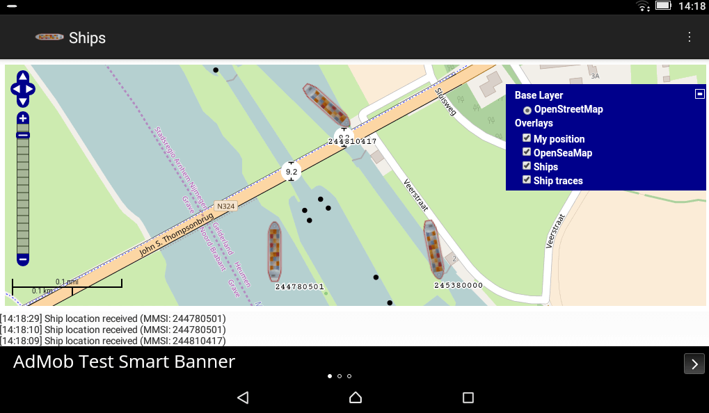 Ships RTL-SDR Android App Screenshot