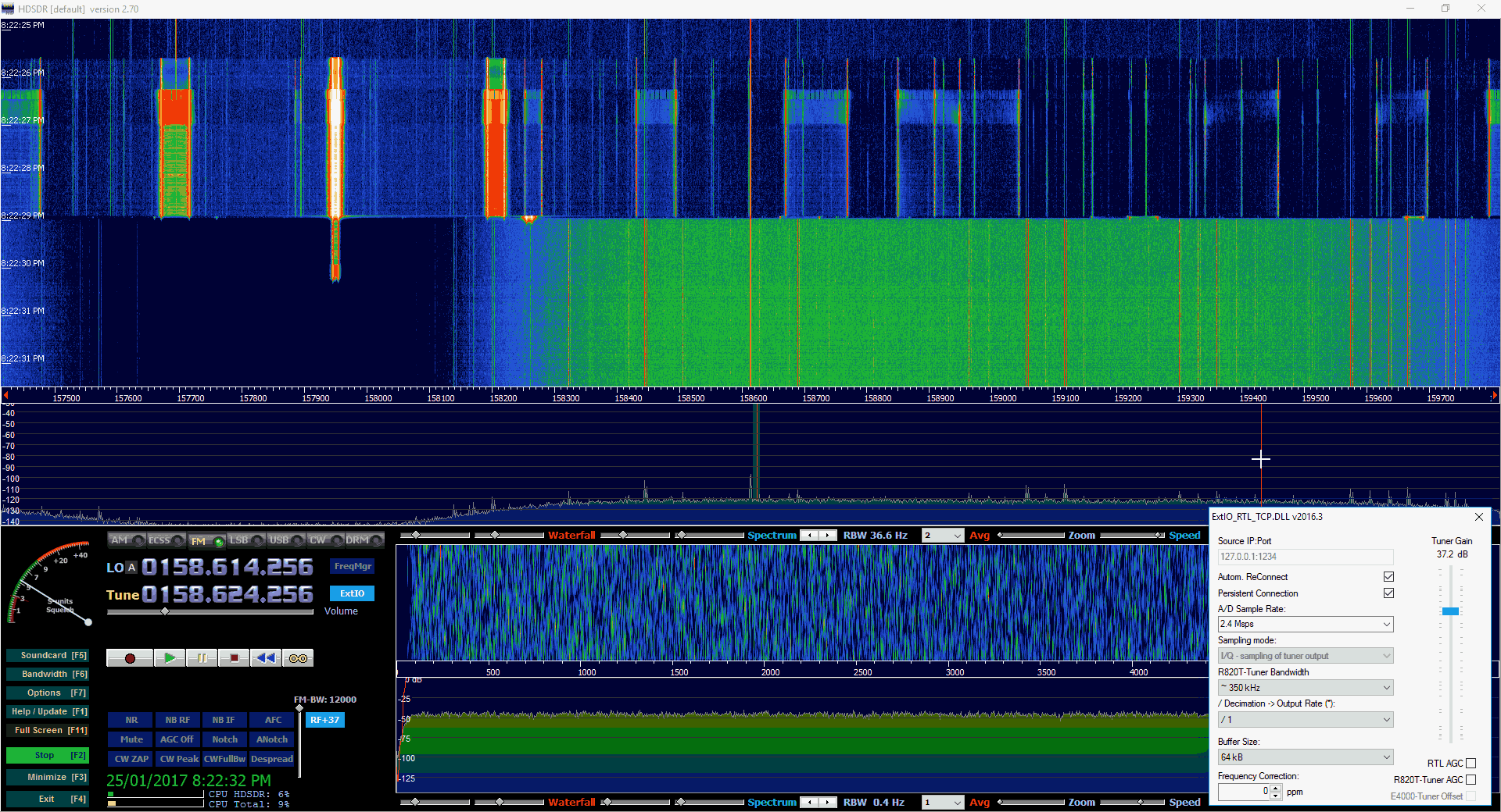 Tuner Bandwidth Selection Example.