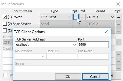 Set the input stream