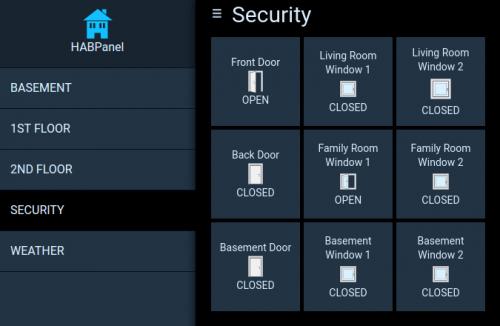 Custom Door Sensor Status in OpenHAB