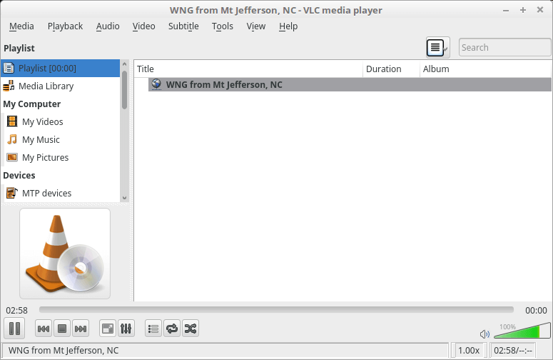 Receiving the stream with VLC