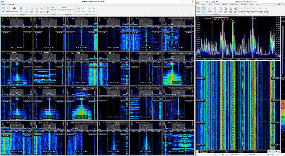 Multi-channel decoding in SDR-Console with the Airspy+SypVerter