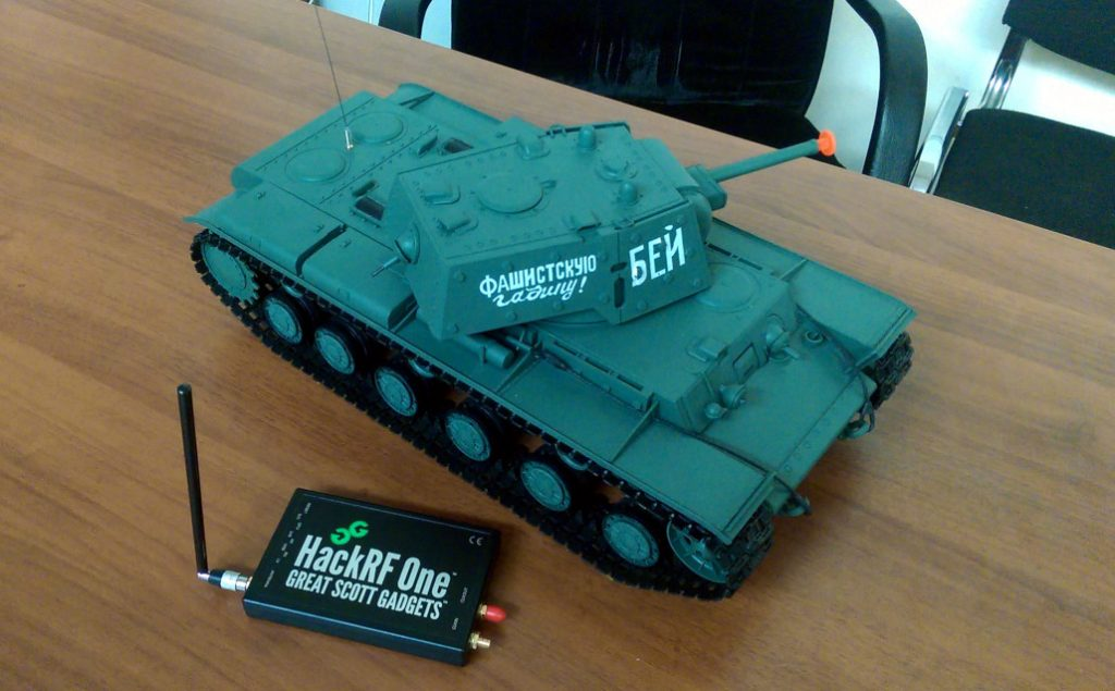 HackRF used to control an RC toy tank