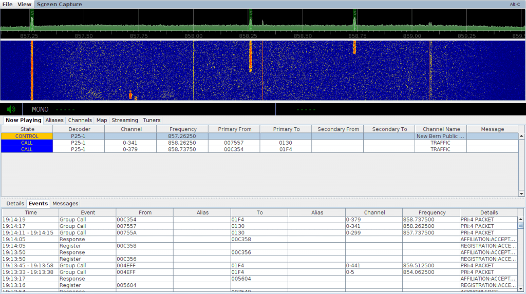 SDRTrunk Running and decoding a P25 Phase 1 System