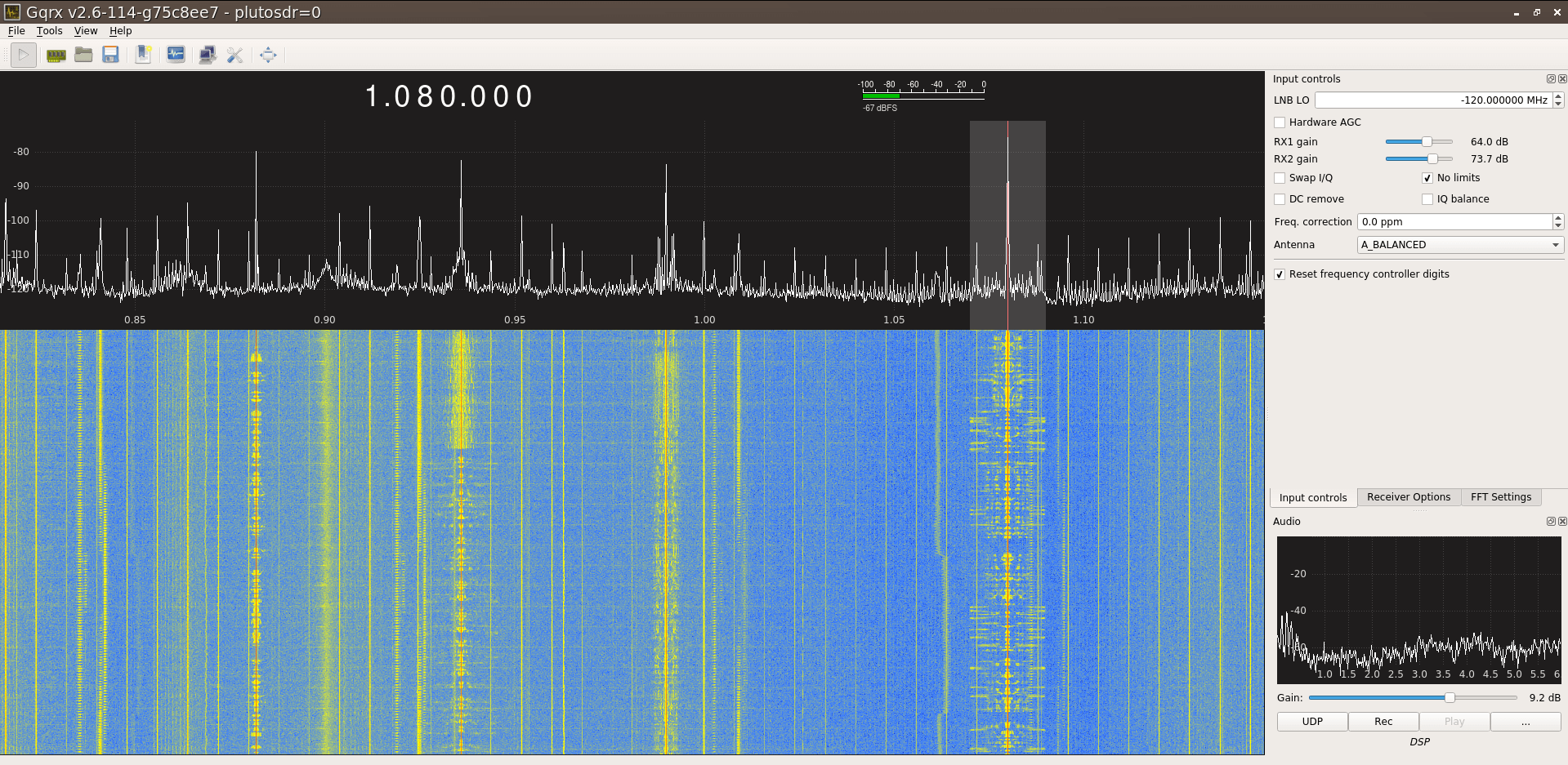 ADALM-PLUTO SDR Hack: Tune 70 MHz to 6 GHz and GQRX Install