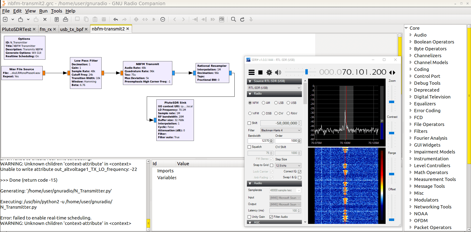 Adalm Pluto Sdr Hack Tune 70 Mhz To 6 Ghz And Gqrx Install 100m Simple Fm Transmitter Tx 70mhz