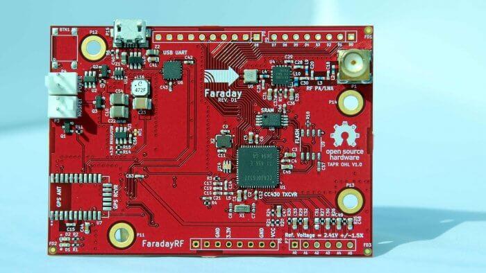The FaradayRF PCB