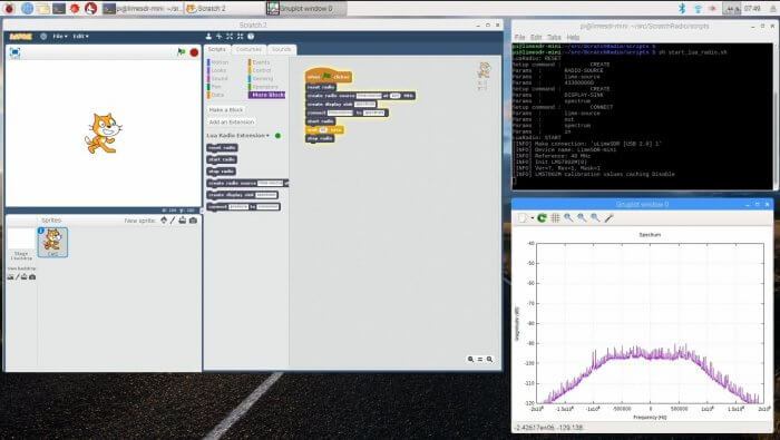 Scratch running with a LimeSDR Mini on a Raspberry Pi