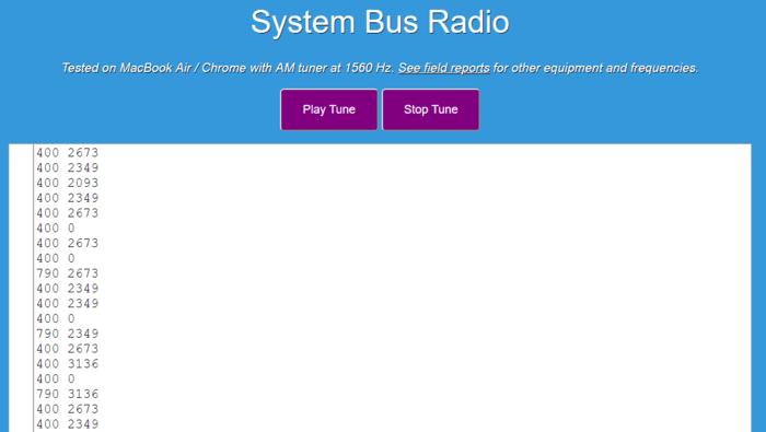 System Bus Radio web app
