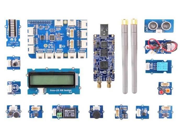 The Grove Starter Kit with LimeSDR.