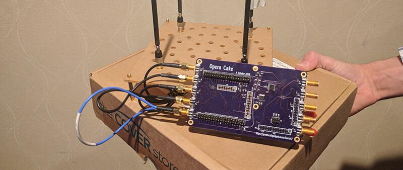 OperaCake running with four antennas