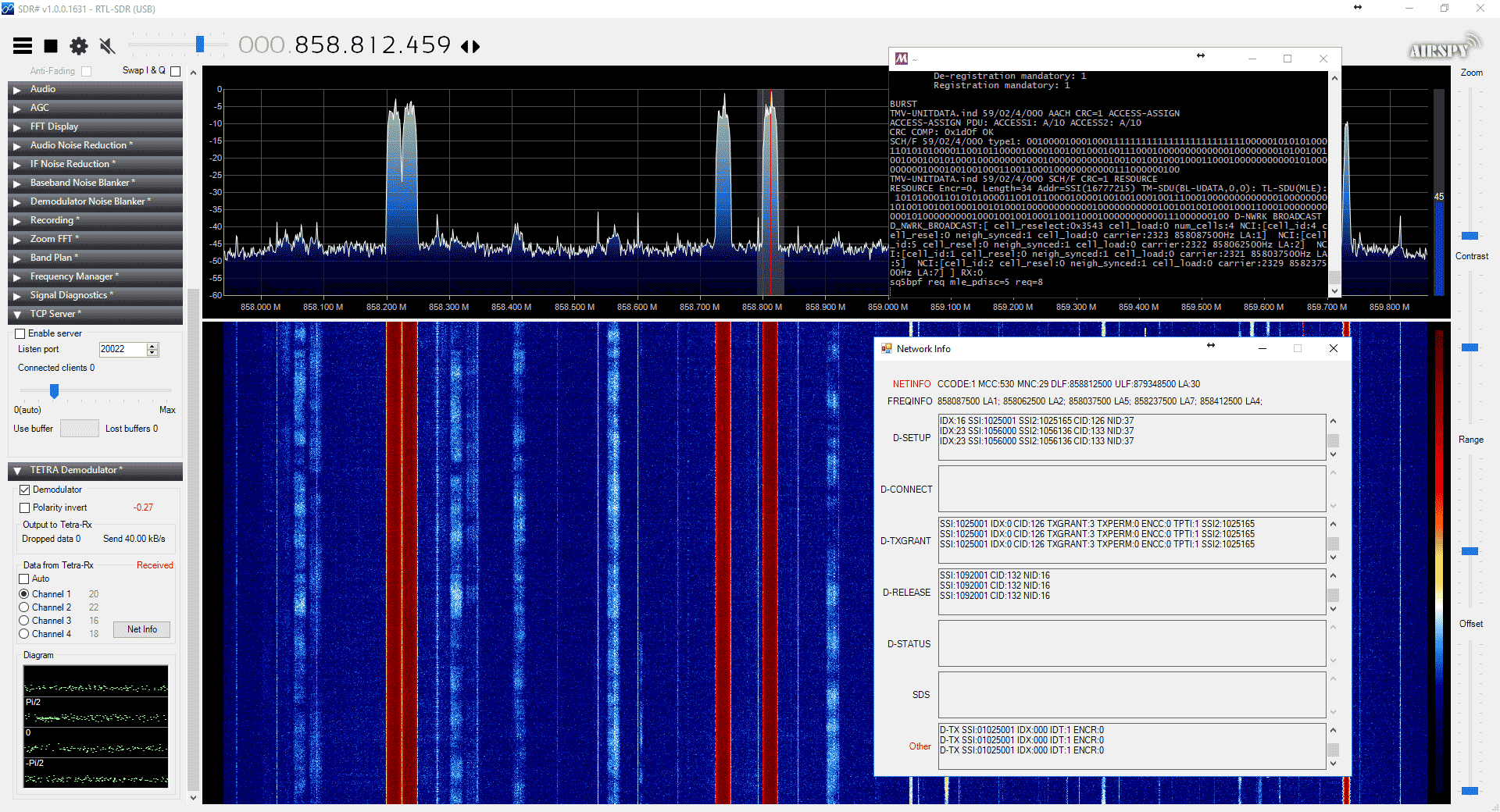TETRA Decoder Plugin for SDR# Now Available
