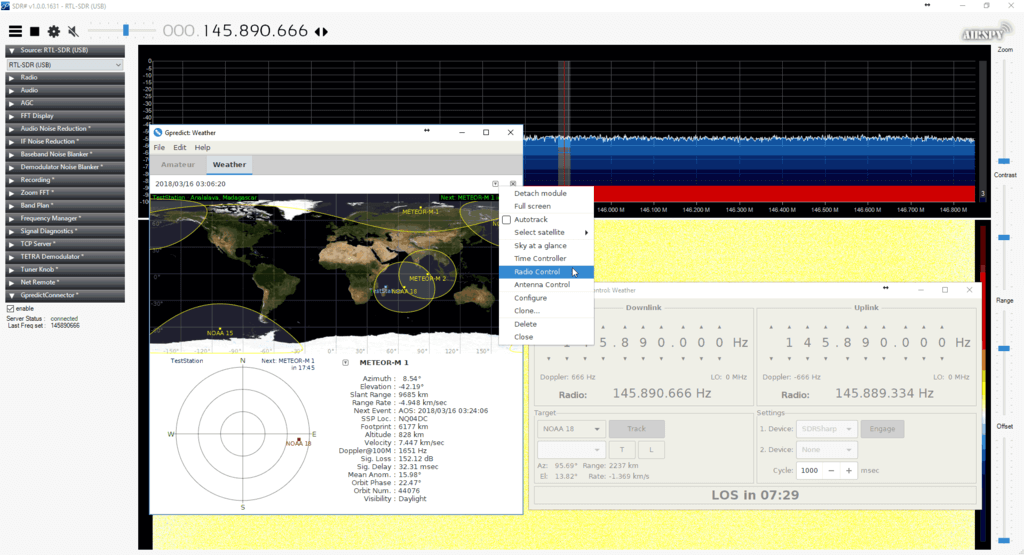 Connecting to GPredict using the GPredictConnector SDR# Plugin