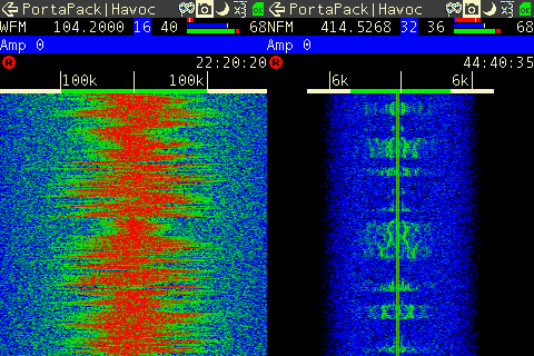 Receiving WFM and NFM audio with the Portapack.