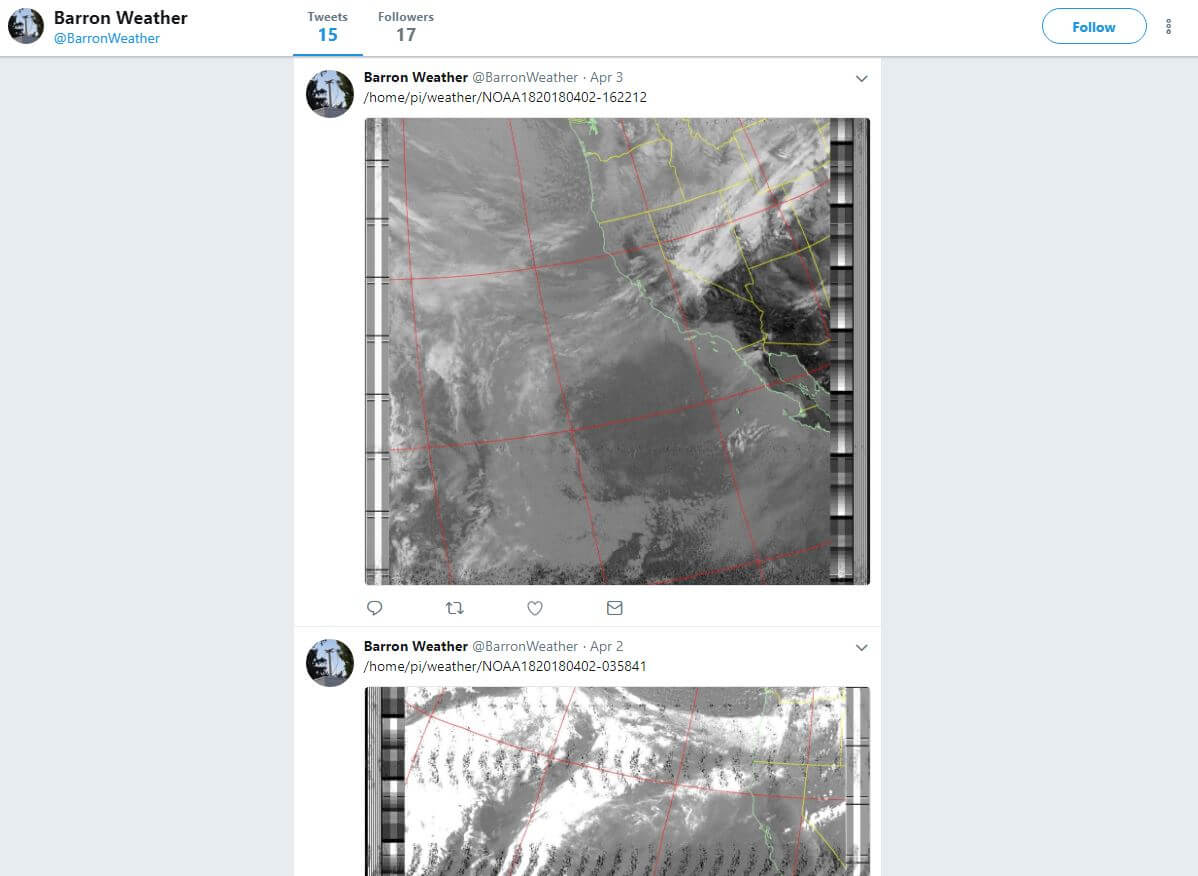 Automatically Receiving, Decoding and Tweeting NOAA Weather