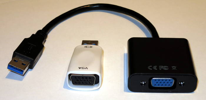 Examples of compatible Osmo-FL2K USB to VGA Adapters.
