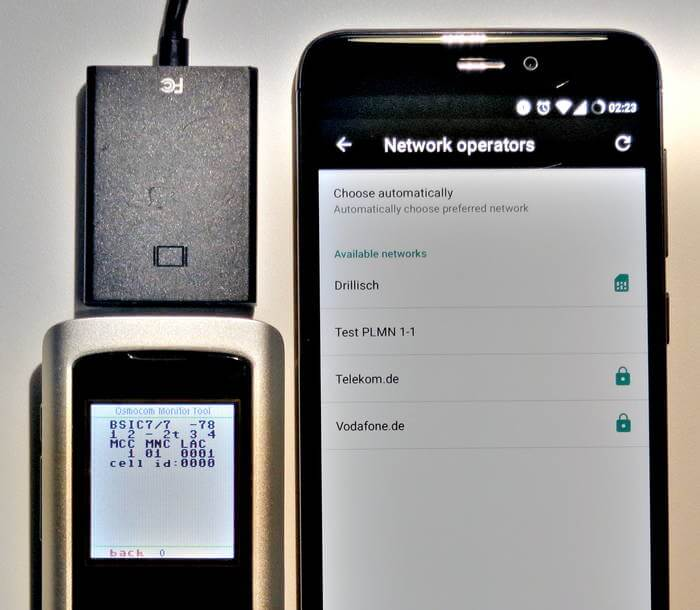 Osmo-FL2K being used as a GSM Basestation