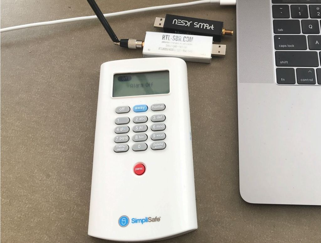 An RTL-SDR and SimpliSafe KeyPad