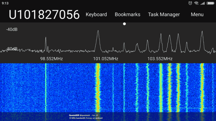 QuestaSDR Streaming over a network connection with an Airspy