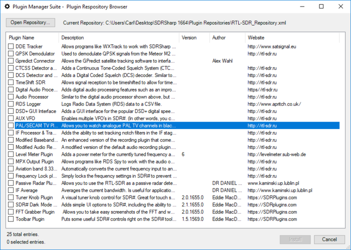 SDR# Plugin Repository