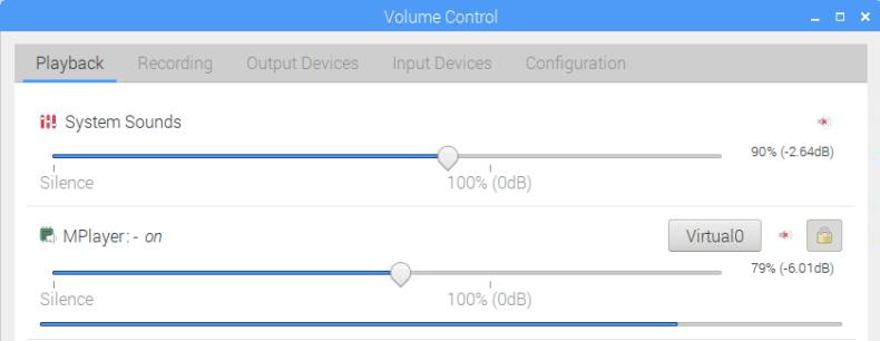 Pulse Audio Control GUI