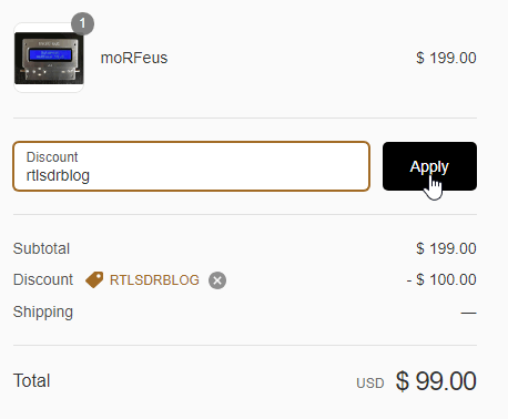"moRFeus coupon ""rtlsdrblog"""