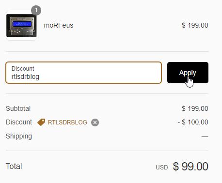 "moRFeus coupon ""rtlsdrblog"""