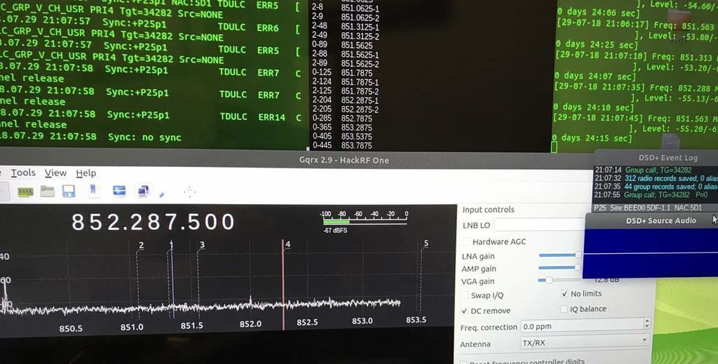 DSD+ Decoding Multiple DMR Channels on Linux