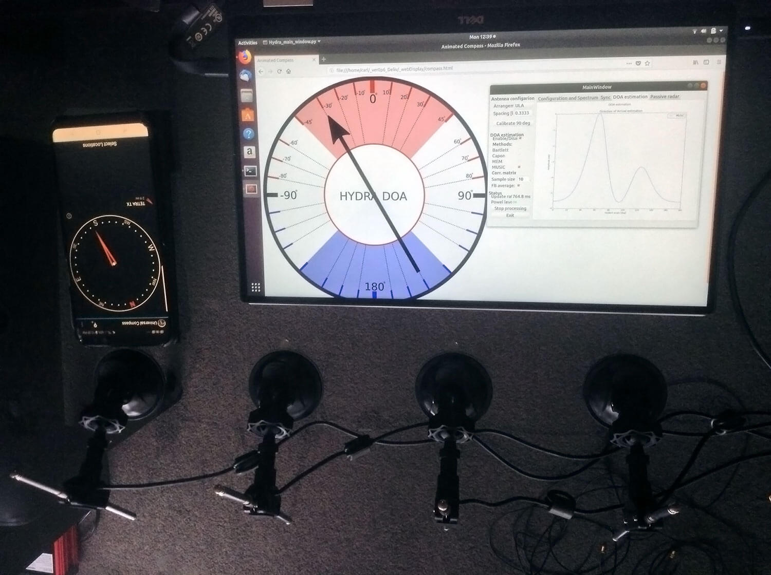 Finding the direction of a TETRA Transmitter
