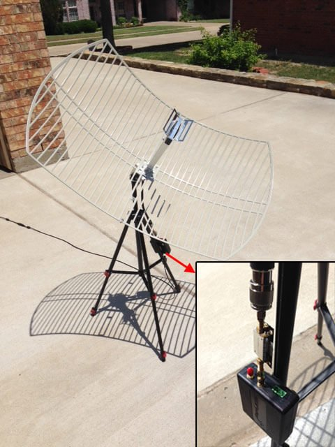 RSP2users GOES Receiver: SDRplay, SAWBird LNA, 2.4 GHz WiFi Grid Antenna