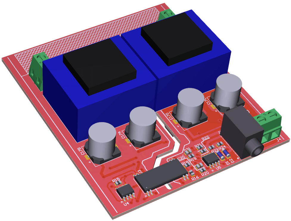 Grid-2-Audio PCB Rendering