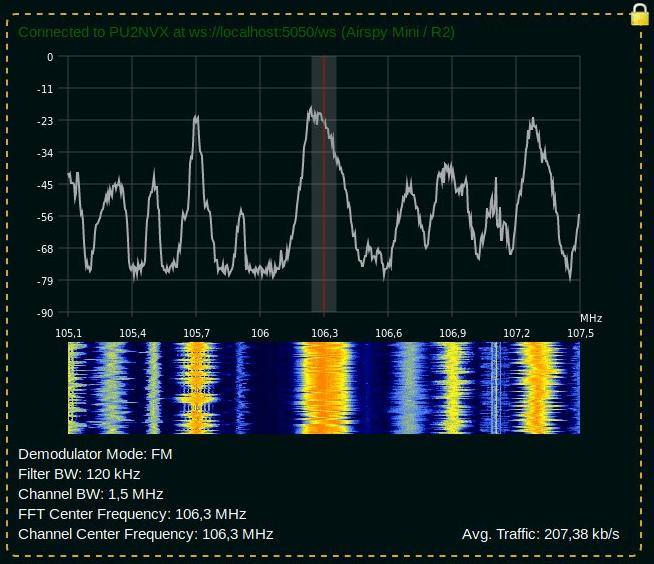SegDSP Screenshot Demodulating WBFM