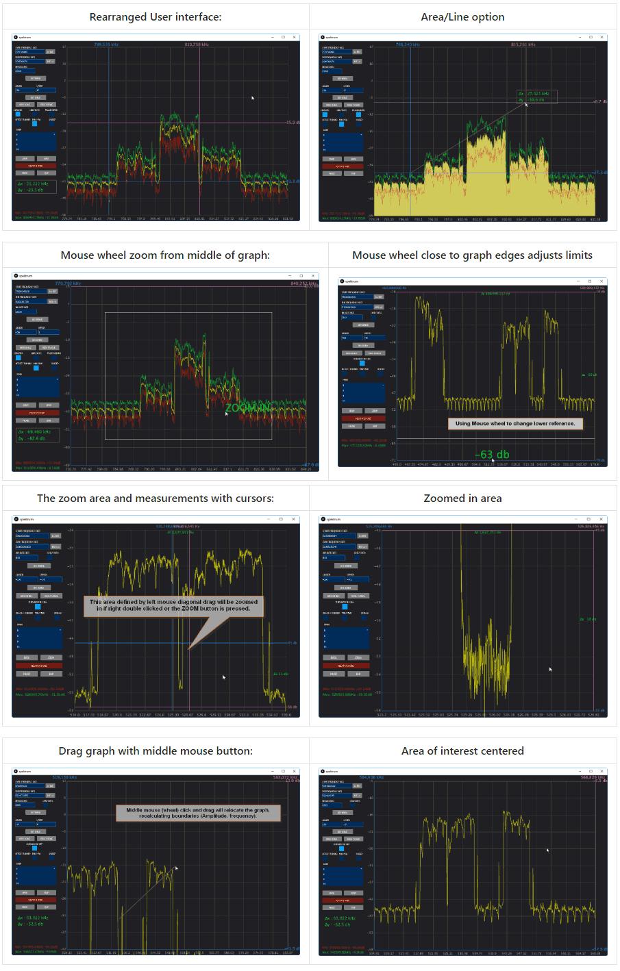 Spektrum UI Updates