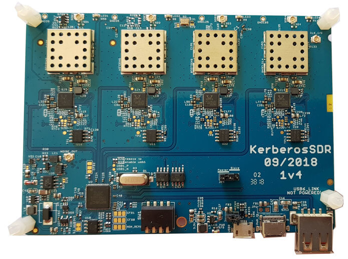 KerberosSDR Main Board (Metal Enclosure with SMA connectors Not Shown)