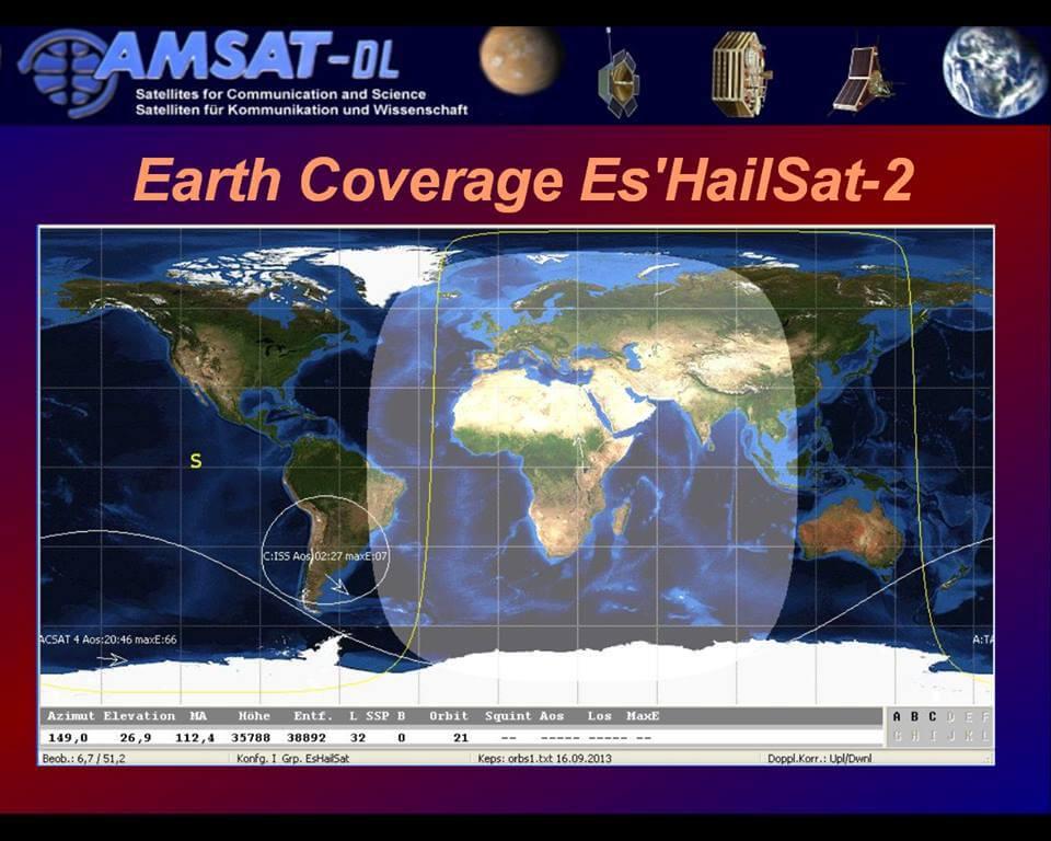 Es'hail-2: First Geostationary Satellite with Amateur Radio