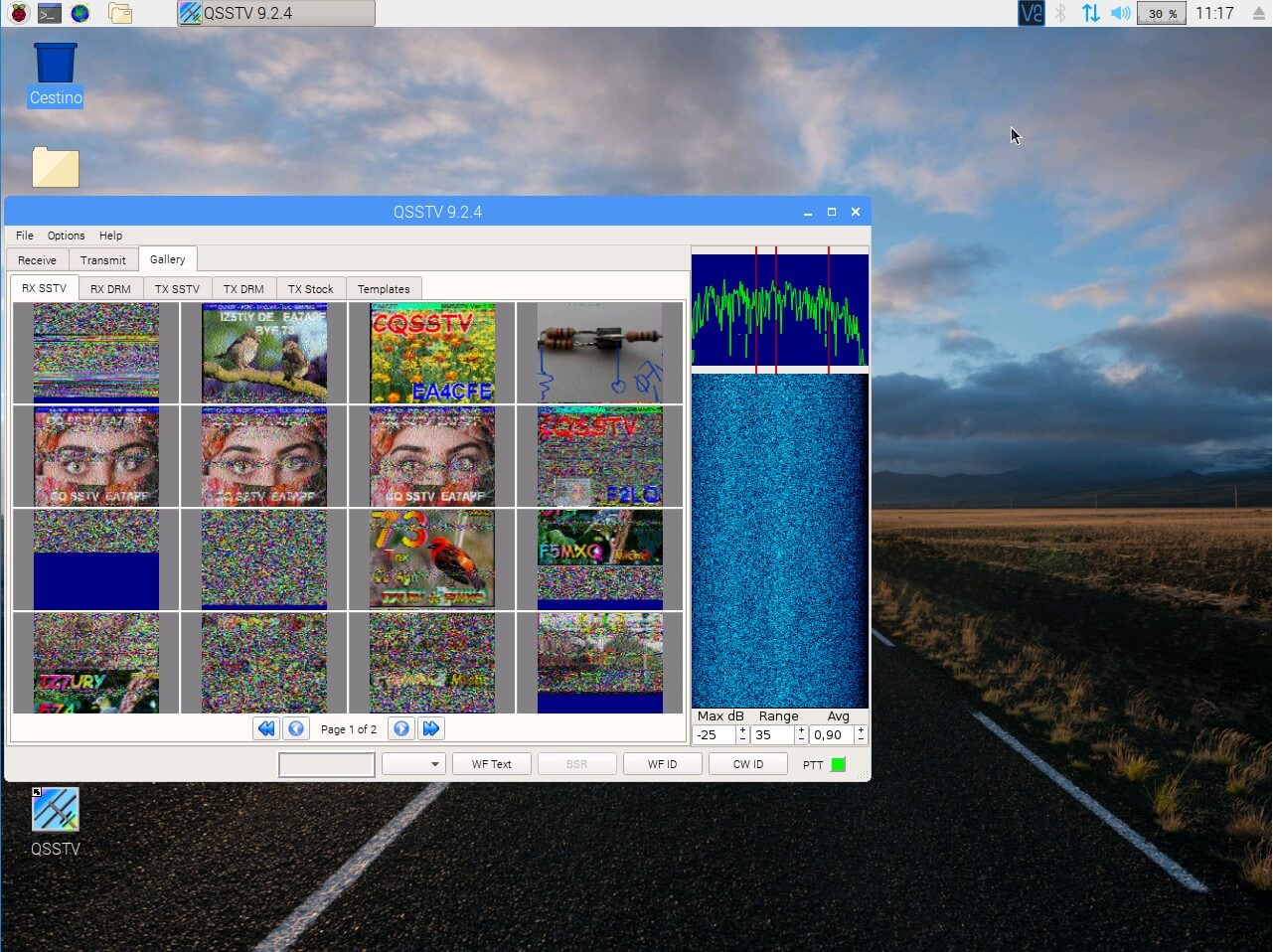 QSSTV Running on a Raspberry Pi with RTL-SDR V3 Radio